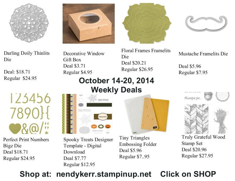 Weekly Deals October 14-20, 2014