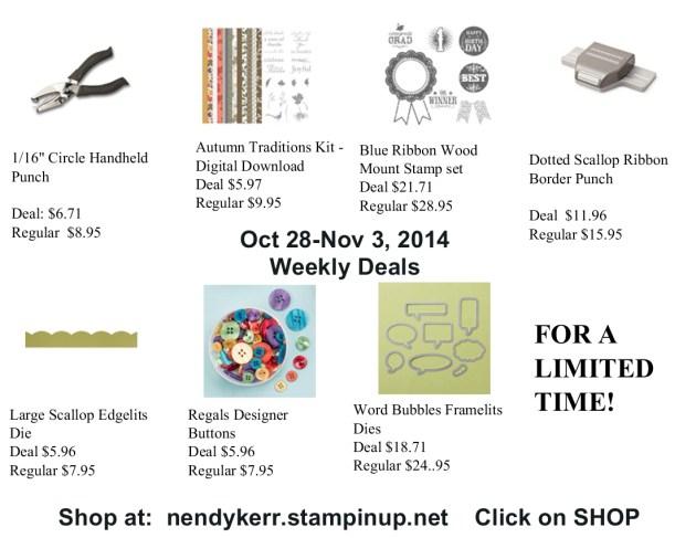 October 28, 2014 Weekly Deals