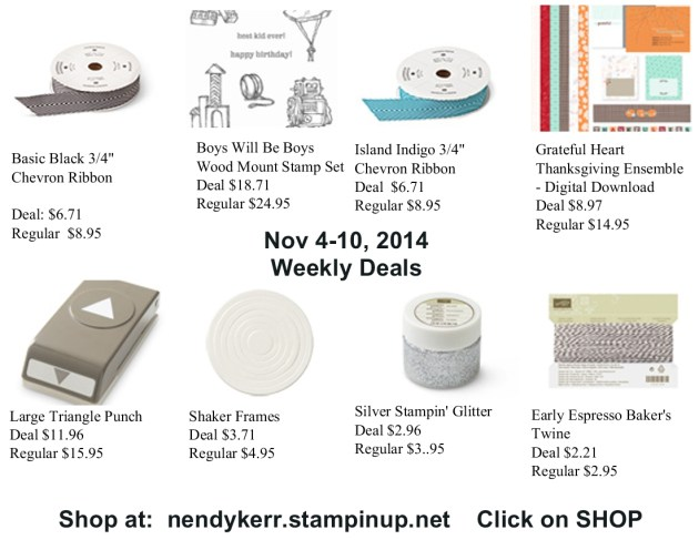 Weekly Deals Nov 4-10, 2014