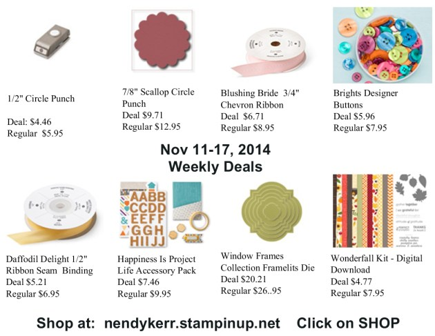 Weekly Deals November 11-17, 2014