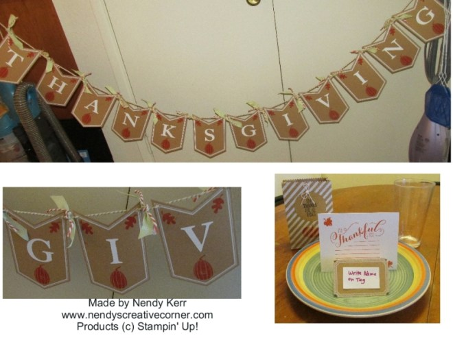 Thanksgiving Banner and Table Setting