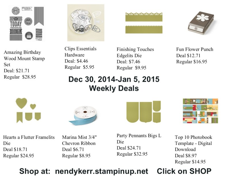 Weekly Deals for December 30, 2014-Jan 5, 2015