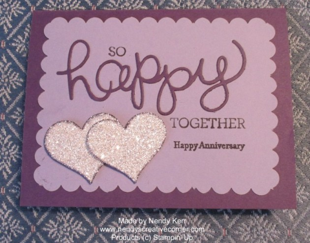 Anniversary Card in Purples