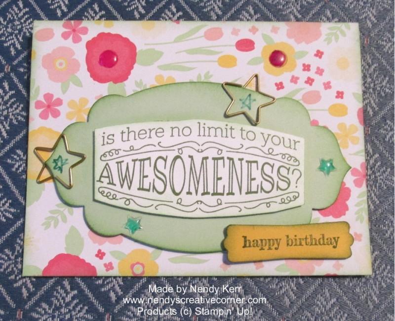 Kathleen's Birthday card 2014