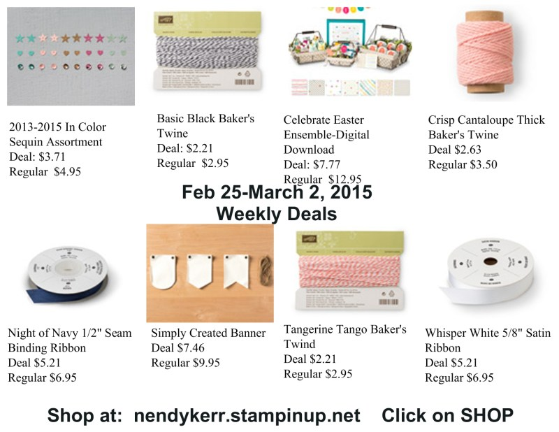 Weekly Deals February 28-March 2, 2015