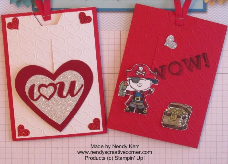 Sliding Valentine cards