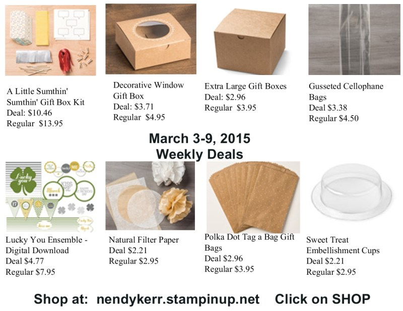 Stampin' Up! Weekly Deals for March 3-9, 2015