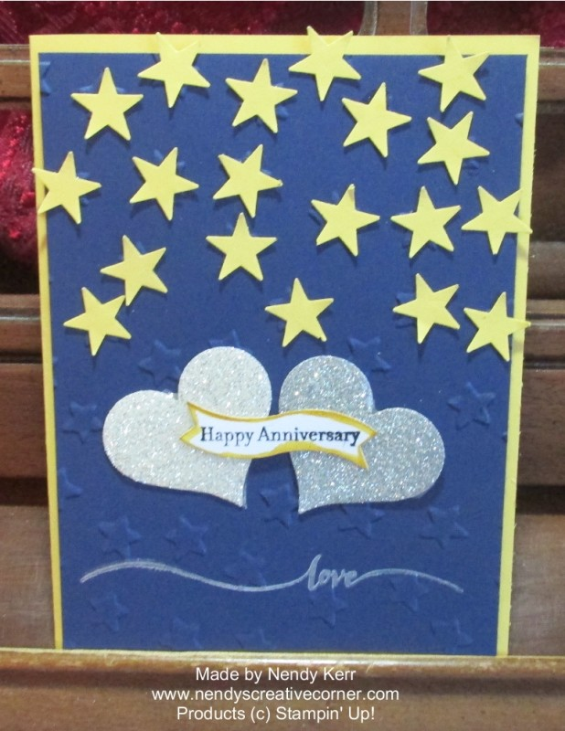 Hearts & Stars Anniversary Card