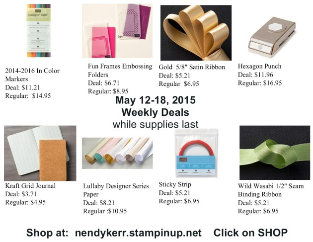 Weekly Deals for May 12-18, 2015