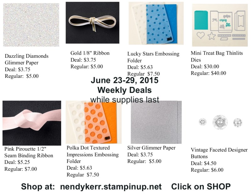 Stampin' Up! Weekly Deals June 23-29, 2015