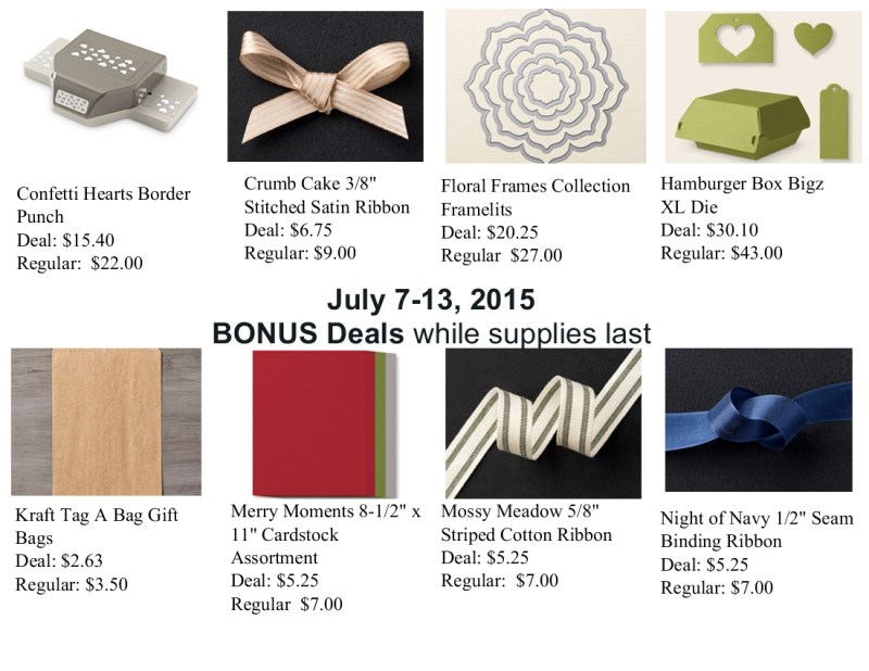 Stampin' Up! Weekly Deals July 7-13, 2015