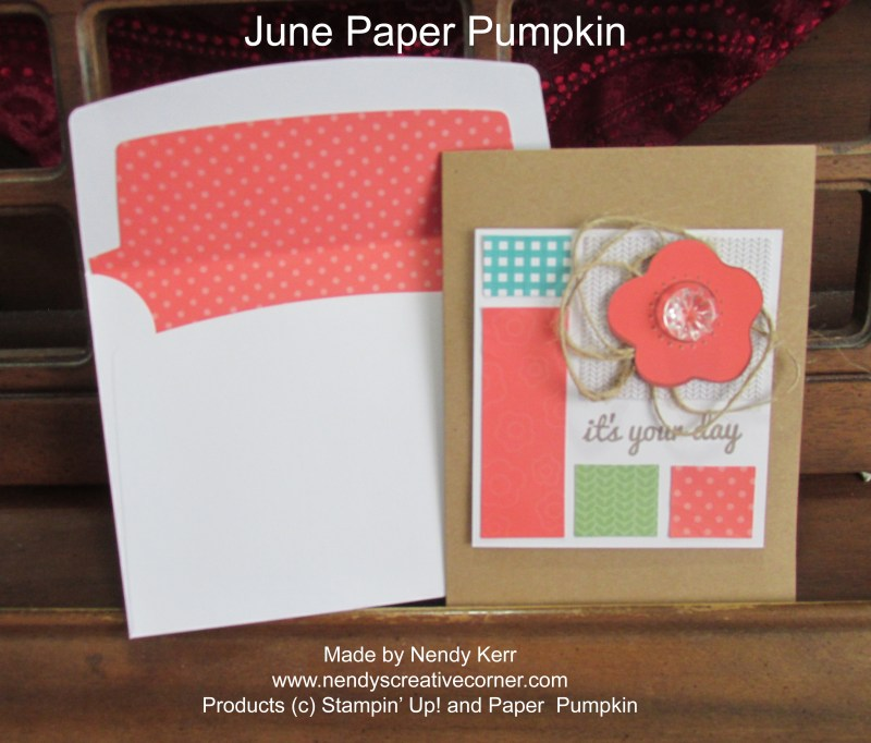 June Paper Pumpkin Card 1