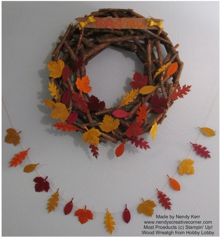 Fall Vintage Leaf Garland