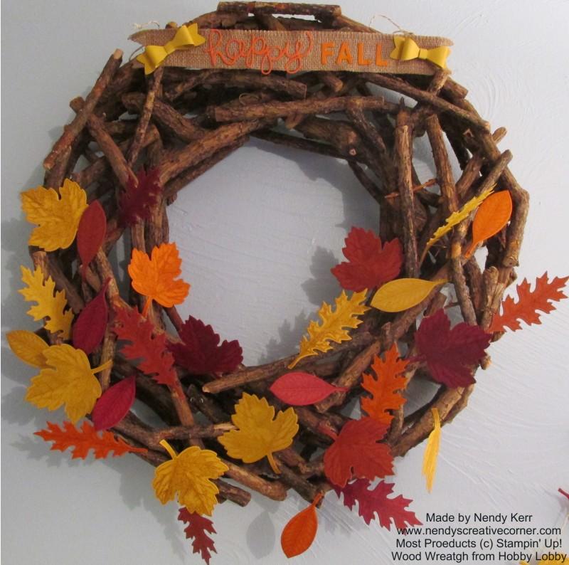 Vintage Leaves Fall Wreath