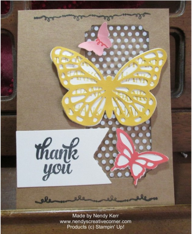 Tin of Cards-Butterfly Card