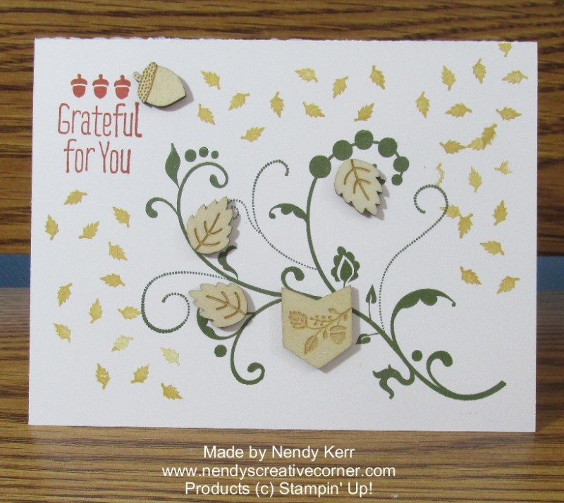 Grateful for You Wood Elements Card
