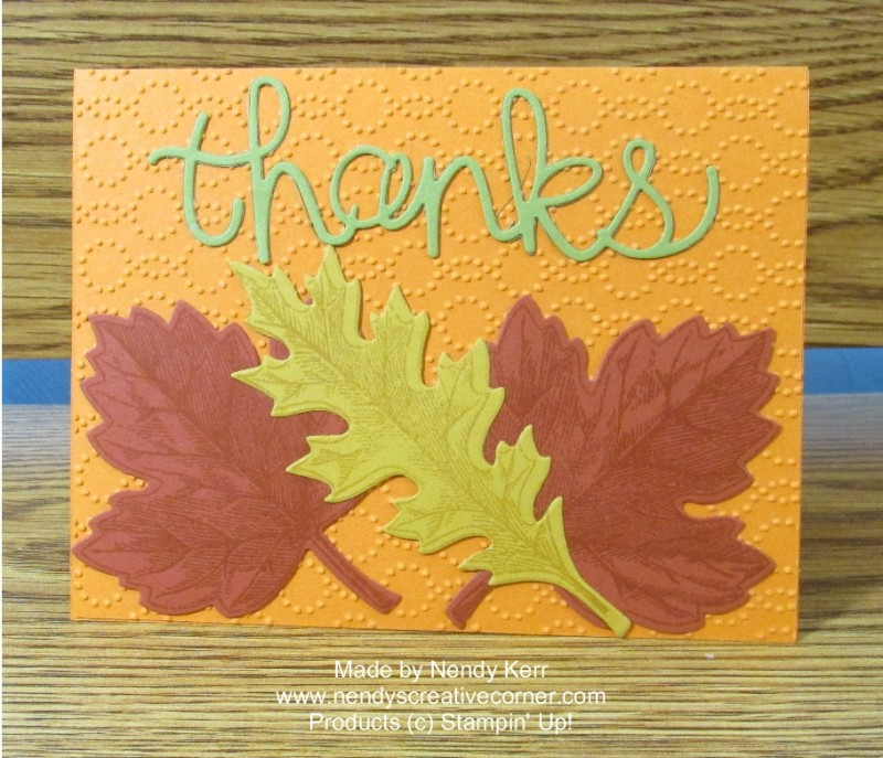 Thanks Leaf Card