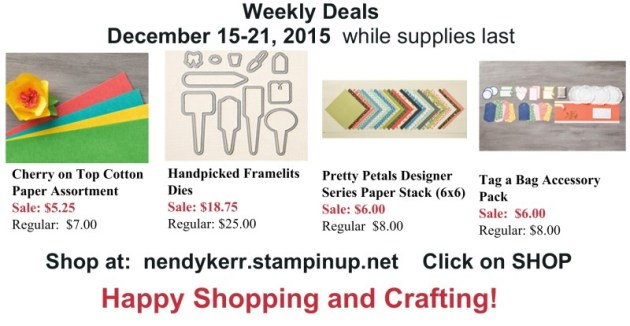 Stampin' Up! Weekly Deals for December 15-21, 2015