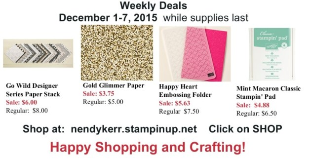 Weekly Deals for December 1-7, 2015