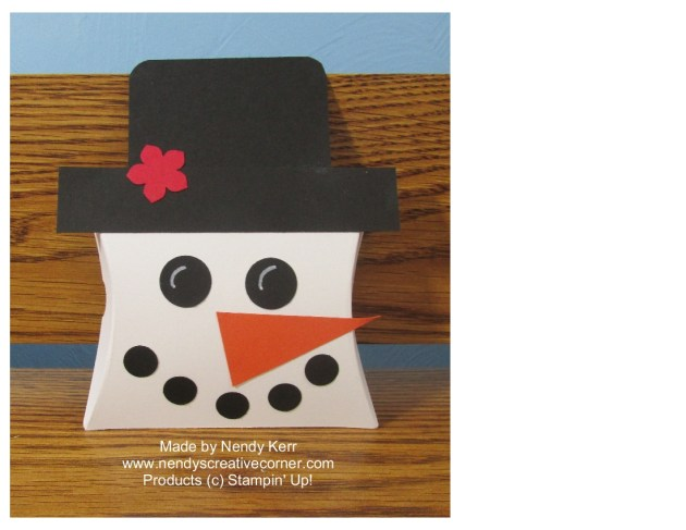 Square Pillowbox Snowman