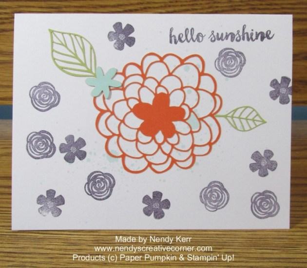 February 2016 Paper Pumpkin card