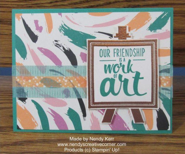 Painter's Pallette Friendship Card