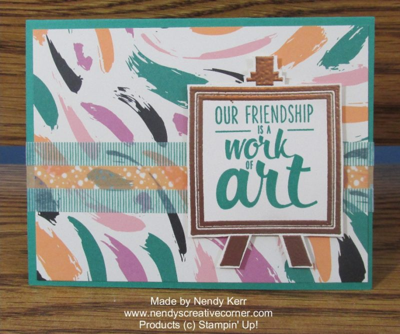 Painter's Pallette Friendship Card