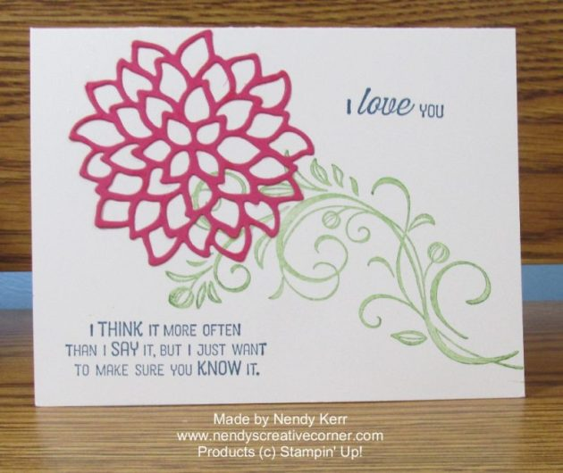 I Love You Flower Card