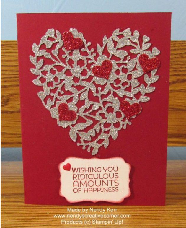 Tiffany's Bloomin' Heart Wedding Card