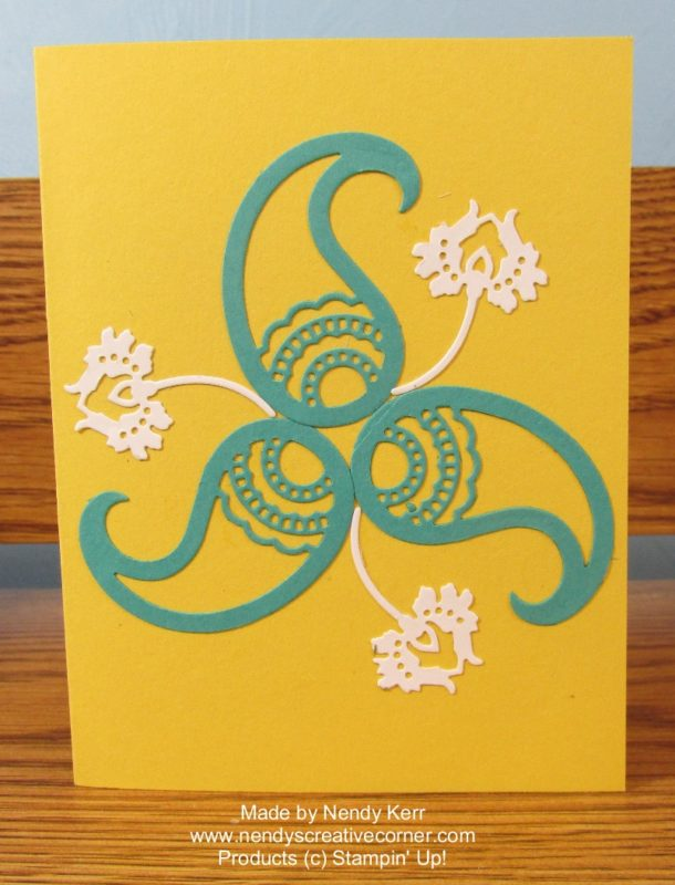 Paisley & flower card