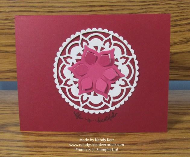 Eastern Medallion Flower and Doily Card