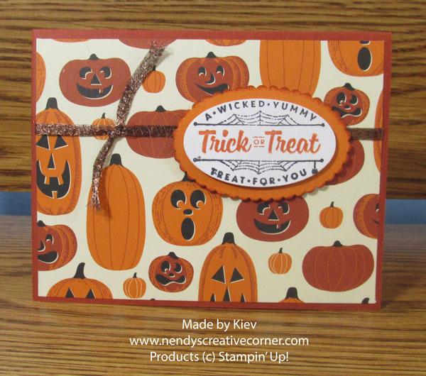 Halloween Jack O'Lantern Card