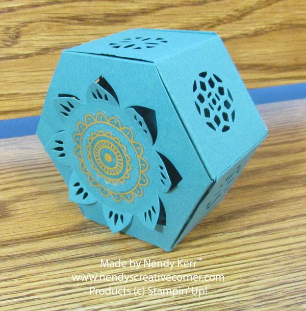Eastern Medallions Flower Hexagon Window Box