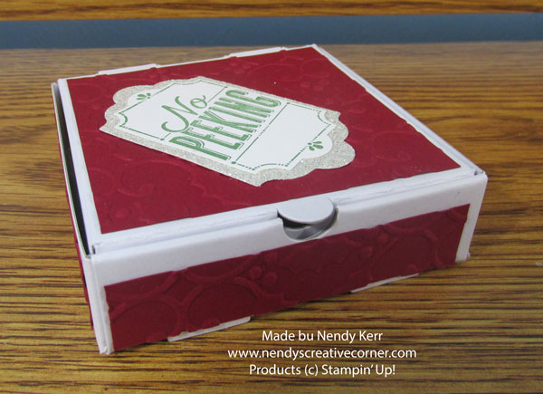 Christmas Mini Pizza Box