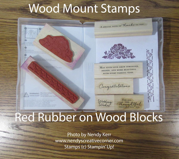 Wood Mount Stamps in Case