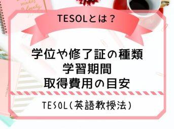 TESOL(英語教授法とは)