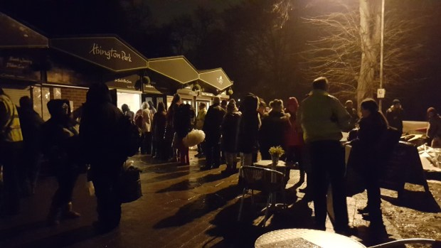 Big Sleep Out participants queue to sign in at the event
