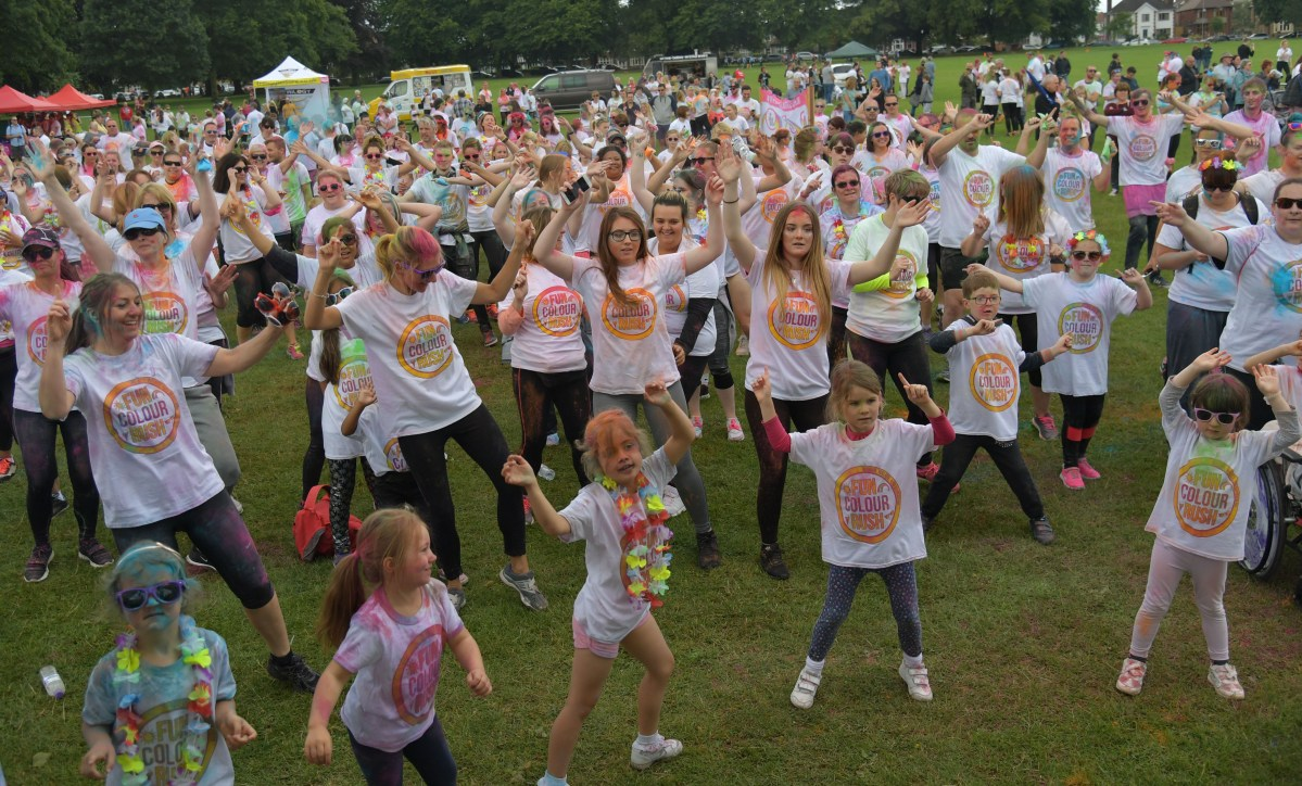 Stunning pictures from Colour Run for the Hope Centre
