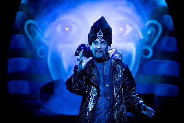 Aladdin - Paul Nicholas - photo by Graeme Braidwood