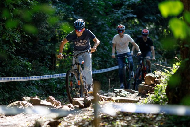 Outdoor MTB trail