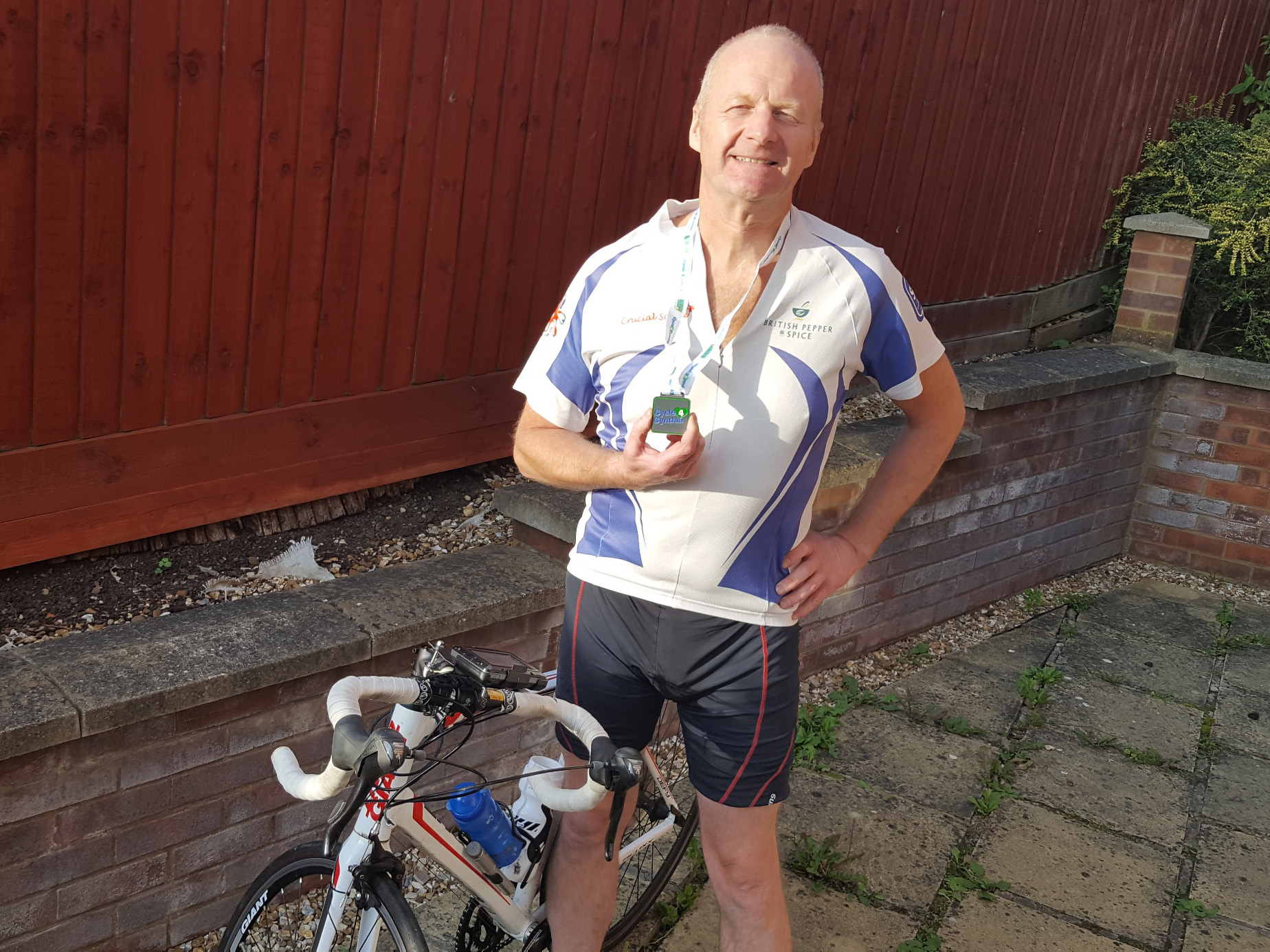 Michael proudly sports his C4C 2020 medal