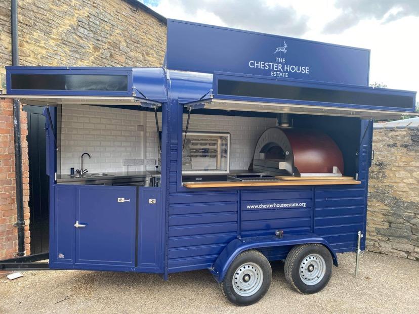 Chester House Estate pizza trailer
