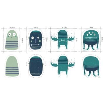 TRICOT | PANEEL - Monsters Blauw Groen