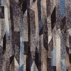 TRICOT VISCOSE | Saskia abstract - grijs blauw