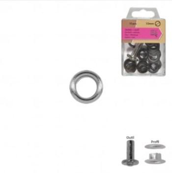 VERNIETBARE RINGEN | 10mm - zilver (10st)