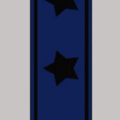 OAKI-DOKI - Galloon Trim Coll.1   30mm   blauw met zwarte sterren *kleur 12002