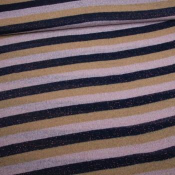 GEBREIDE WOL   Strepen - Lurex stripes   Kleur