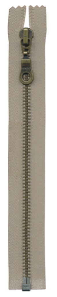 Metalen rits brons fantasie - deelbaar | 5mm