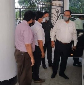 Assam's new health minister Keshab Mahanta visits GIMT Covid Care Centre 1