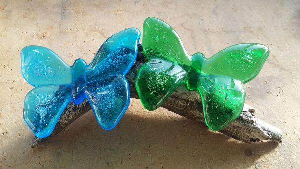 As in glas vlinders